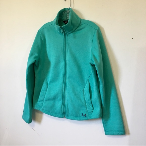 0f9201bf7c3 Under Armour Fleece Jacket Coat Turquoise Women's.  M_5acfe78fd39ca22bff535f81